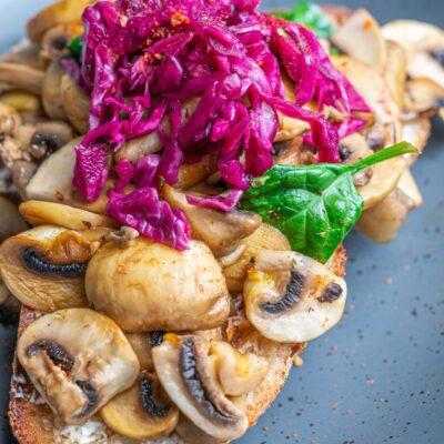 Mushroom Bruschetta Vegan Restaurant Norwest Nsw