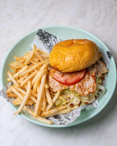 Peri Peri Burger With Hotchips Bella Vista The Hills District